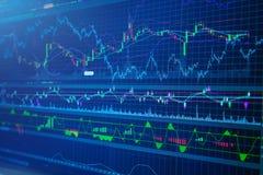 Successo di affari e finanza delle azione di concetto di crescita Immagini Stock Libere da Diritti