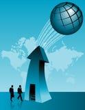 Successo di affari globali illustrazione di stock