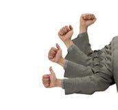 Successo di affari in pollici in su Immagine Stock Libera da Diritti