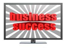 Successo di affari sulla TV Fotografia Stock