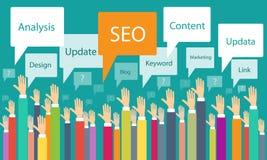 Successo di comunicazione di processo aziendale di web di seo di vettore Fotografie Stock