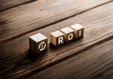 Successo di profitto di ROI Return On Investment Finance fotografia stock