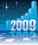 Successo durante il nuovo anno 2009 Immagine Stock Libera da Diritti