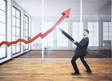 Successo e concetto finanziario di crescita Fotografia Stock Libera da Diritti