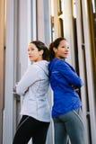 Successo e motivazione delle donne di forma fisica Immagine Stock