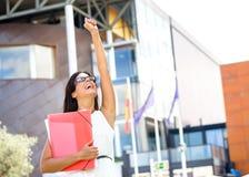 Successo femminile dello studente di college Immagine Stock