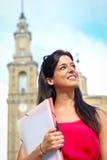 Successo femminile dello studente universitario Immagini Stock