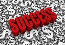Successo finanziario Immagine Stock