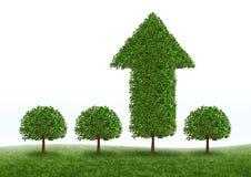 Successo finanziario di sviluppo Fotografia Stock