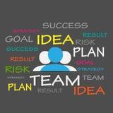 Successo, idea, Team Tag Cloud illustrazione vettoriale
