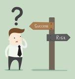 Successo o rischio Immagini Stock