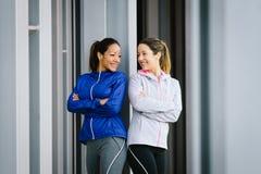 Successo sano delle donne di forma fisica felice Fotografia Stock