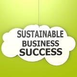 Successo sostenibile di affari Fotografia Stock