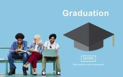 Successo Websit di risultato dell'università di studio di istruzione di graduazione Immagine Stock Libera da Diritti