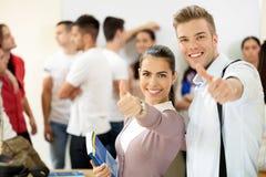 Successtudenten Stock Foto