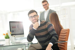 Successul business team working in an modern sunny office. Analy Stock Photography