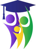 Successul graduates. A vector drawing represents successful graduates design Royalty Free Stock Photos