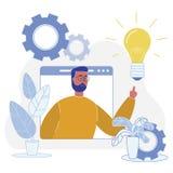 Succesvol Aanpassings Nieuw Idee aan Eindproduct vector illustratie