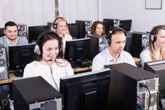 Succesvol call centre Stock Afbeelding