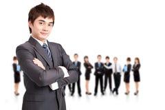 Succesvol commercieel mens en team Royalty-vrije Stock Fotografie