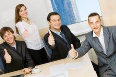 Succesvol commercieel team Stock Foto's