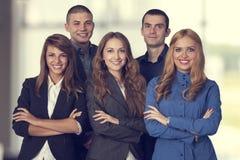 Succesvol Commercieel Team Stock Afbeeldingen