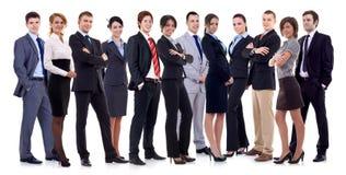 Succesvol gelukkig commercieel team Stock Afbeelding