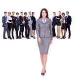 Succesvol gelukkig commercieel team royalty-vrije stock foto's