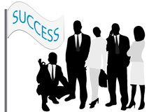 Succesvol team vector illustratie