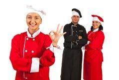 Succesvol team van chef-koks Stock Afbeelding