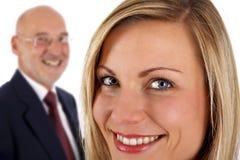 Succesvol vrouwelijk & hoger mannetje Stock Foto's