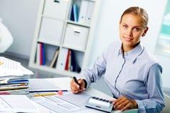 Succesvolle accountant Royalty-vrije Stock Afbeeldingen