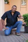 Succesvolle Afrikaanse Amerikaanse mens Stock Afbeeldingen