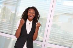 Succesvolle Afrikaanse Vrouw Royalty-vrije Stock Afbeeldingen