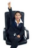 Succesvolle Aziatische bedrijfsvrouw stock afbeelding