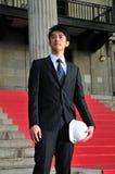 Succesvolle Aziatische Ingenieur 7 stock afbeelding