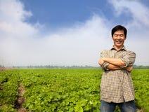 Succesvolle Aziatische landbouwer Stock Foto