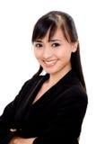 Succesvolle Aziatische vrouw royalty-vrije stock foto's