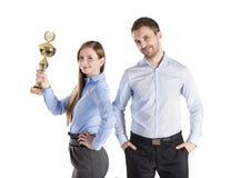Succesvolle bedrijfscollega's Royalty-vrije Stock Afbeeldingen