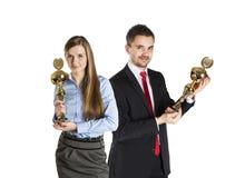 Succesvolle bedrijfscollega's Stock Foto's