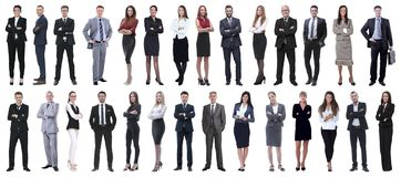 Succesvolle bedrijfsdiemensen op witte achtergrond worden ge?soleerd royalty-vrije stock fotografie