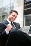 Succesvolle BedrijfsMens Stock Foto