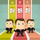 Succesvolle bedrijfsmens vector illustratie