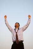 Succesvolle bedrijfsmens Stock Foto's