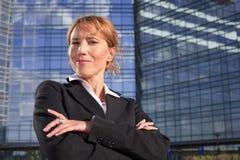Succesvolle bedrijfsvrouw Stock Foto