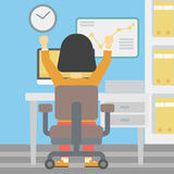 Succesvolle bedrijfsvrouwen vectorillustratie Stock Foto
