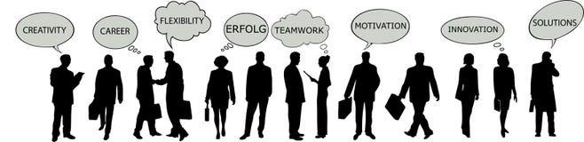 Succesvolle businesspeople vector illustratie