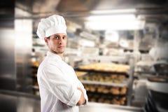 Succesvolle chef-kok royalty-vrije stock afbeeldingen
