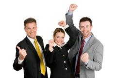 Succesvolle commerciële teamviering stock foto's