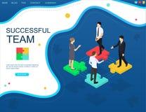 Succesvolle de websitebanner van het groepswerkconcept stock foto's